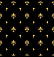 golden fleur-de-lis seamless pattern gold vector image
