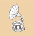 gramophone- vintage hand drawn vector image vector image