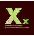 grungy letter X vector image