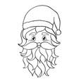 hand drawn head santa vector image vector image