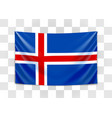 hanging flag iceland kingdom iceland vector image
