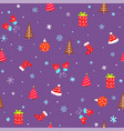 holiday seamless pattern with christmas elements vector image vector image