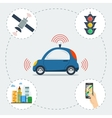 Infographic of self driving car vector image vector image