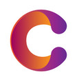 isolated object in form a letter c vector image vector image