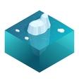isometric underwater view iceberg vector image
