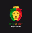 lion head with crown king of zion symbol of the vector image vector image
