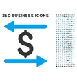 Money Transactions Icon with Flat Set vector image vector image