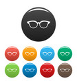 myopic spectacles icons set color vector image vector image