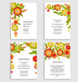 nature floral set vector image vector image