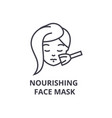 nourishing face mask thin line icon sign symbol vector image