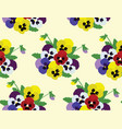 pansies background vector image vector image