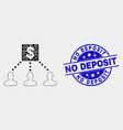 pixelated financial clients links icon and vector image vector image