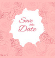 postcard with pink delicate roses and place for vector image vector image