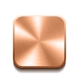 Realistic bronze button vector image