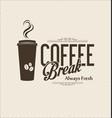 retro vintage coffee design background 0004 vector image vector image