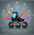 roller skate - business paper infographic vector image