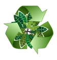 Save forest ecology green recycle sign vector image vector image