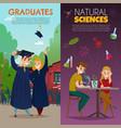 school students cartoon banners vector image vector image
