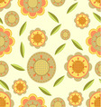 Seamless flower and petals background pattern in vector image