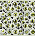 seamless pattern eyeball vector image vector image