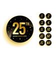 set golden anniversary badges vector image vector image