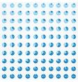 Set of circle diagrams vector image vector image