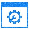 Setup Tools Calendar Page Grainy Texture Icon vector image vector image