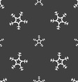 snow icon sign Seamless pattern on a gray vector image