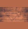 south carolina map brand vector image vector image