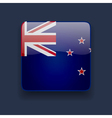 Square icon with flag of New Zealand vector image