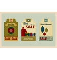 Supermarket sale tags Retro style Christmas Sale vector image