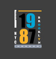 t shirt design 1987 nyc typography vector image vector image