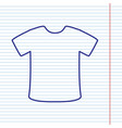 t-shirt sign navy line icon on notebook vector image vector image