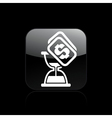 time cost icon vector image vector image