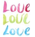 Watercolor Love Calligraphy Script vector image vector image