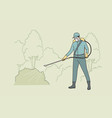 watering lawn at work concept vector image