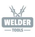 welder work logo simple gray style vector image vector image