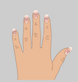 white spots on the nails cartoon vector image vector image