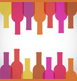 wine glass and bottle art background stock vector image vector image