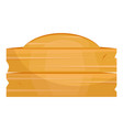 wooden plate icon object tray for table vector image vector image