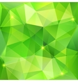 Green abstract crystal background vector image