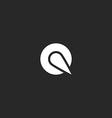 Logo Q letter round design element mockup emblem vector image