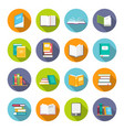 book icon set vector image