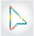 Abstract arrow of pixels vector image vector image