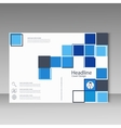 Abstract brochure template design with squares vector image vector image