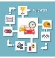 Auto Sport Concept vector image vector image