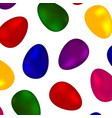 background of colorful colored eggs vector image