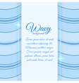 Background with wavy stripes vector image vector image