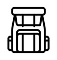 backpack knapsack alpinism equipment icon vector image vector image