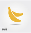 bananas flat icon with shadow vector image vector image